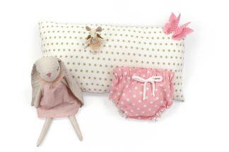 Exposición culotte rosa con estrellas blancas. Modelo Estrellas.