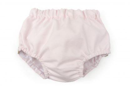 Vista frontal culotte rosa liso. Modelo Rose.