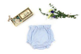 exposición culotte rayas verticales azul. Modelo Summer