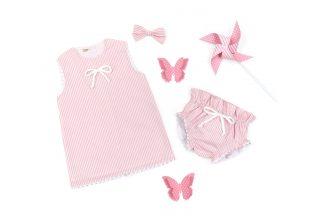 Exposición jesusito rayas verticales rosa. Jesusito Summer rosa.