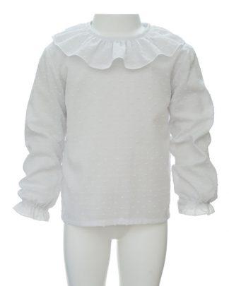 Camisa plumeti blanca - frontal