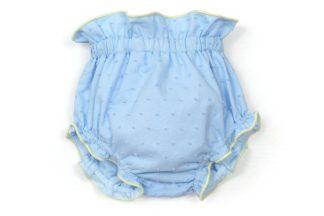 Vista frontal culotte plumeti azul.