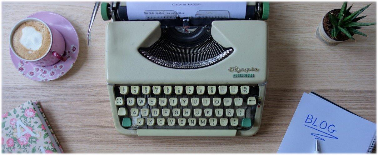maquina escribir en mesa