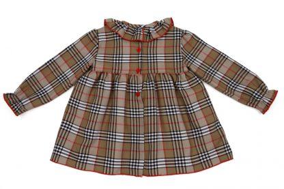 Vista espalda blusa tartan Charlotte