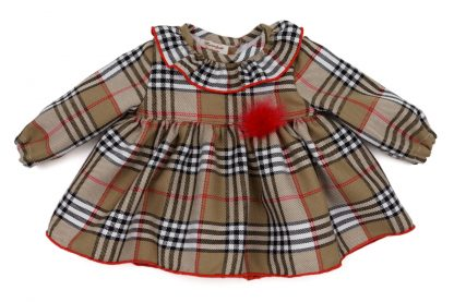 Vista frontal blusa tartan Charlotte bebe