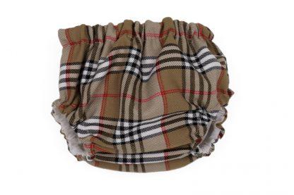Vista frontal culotte tartan Charlotte bebe