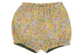 vista frontal bombacho liberty flores amarillo, rosa y menta