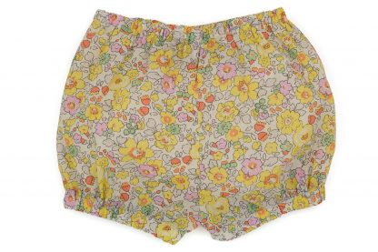 vista trasera bombacho liberty flores amarillo, rosa y menta