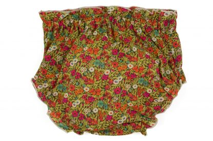 Vista trasera culotte liberty flores colores