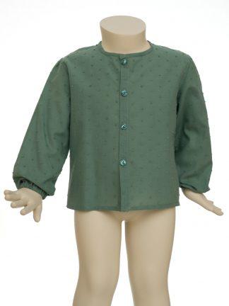 camisa baby - verde seco