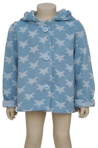 Chaqueta lana estrellas azul 1 en maniquí 24 meses - frontal