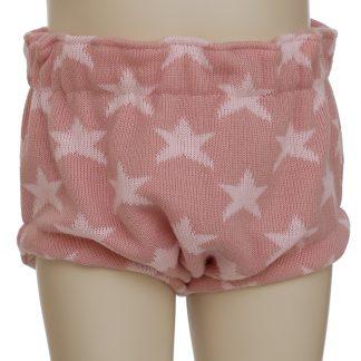 Culottte estrellas lana rosa en maniquí 12 meses