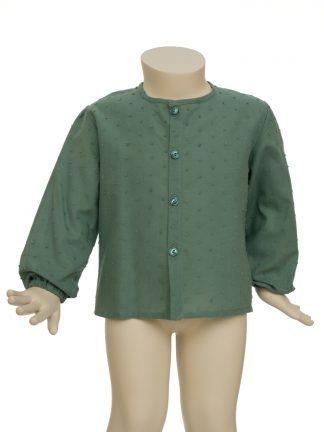 camisa baby - verde seco plumeti